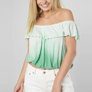 FREE PEOPLE Cora Lee Ombre Off The Shoulder Top